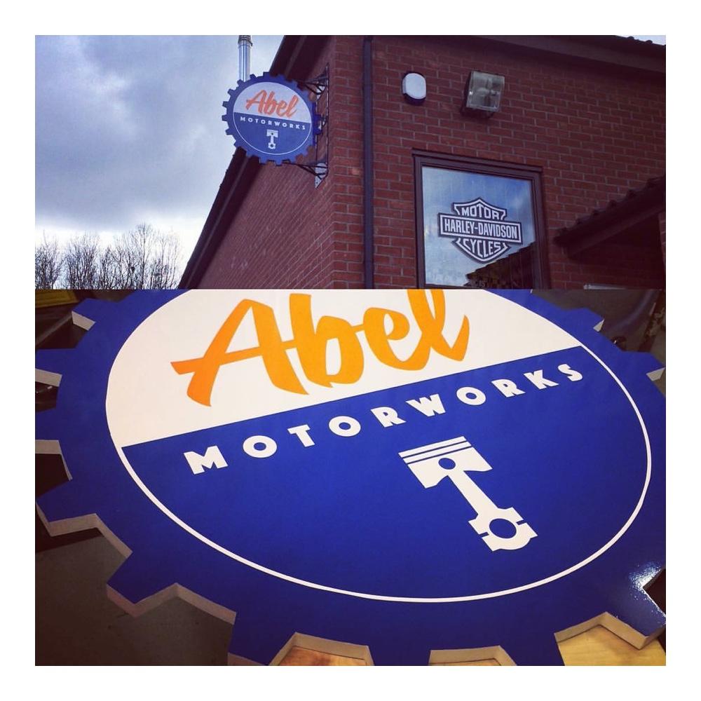 Abel Motorworks sign